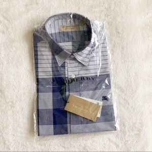 NWT Authentic Burberry Check Short Sleeve Shirt